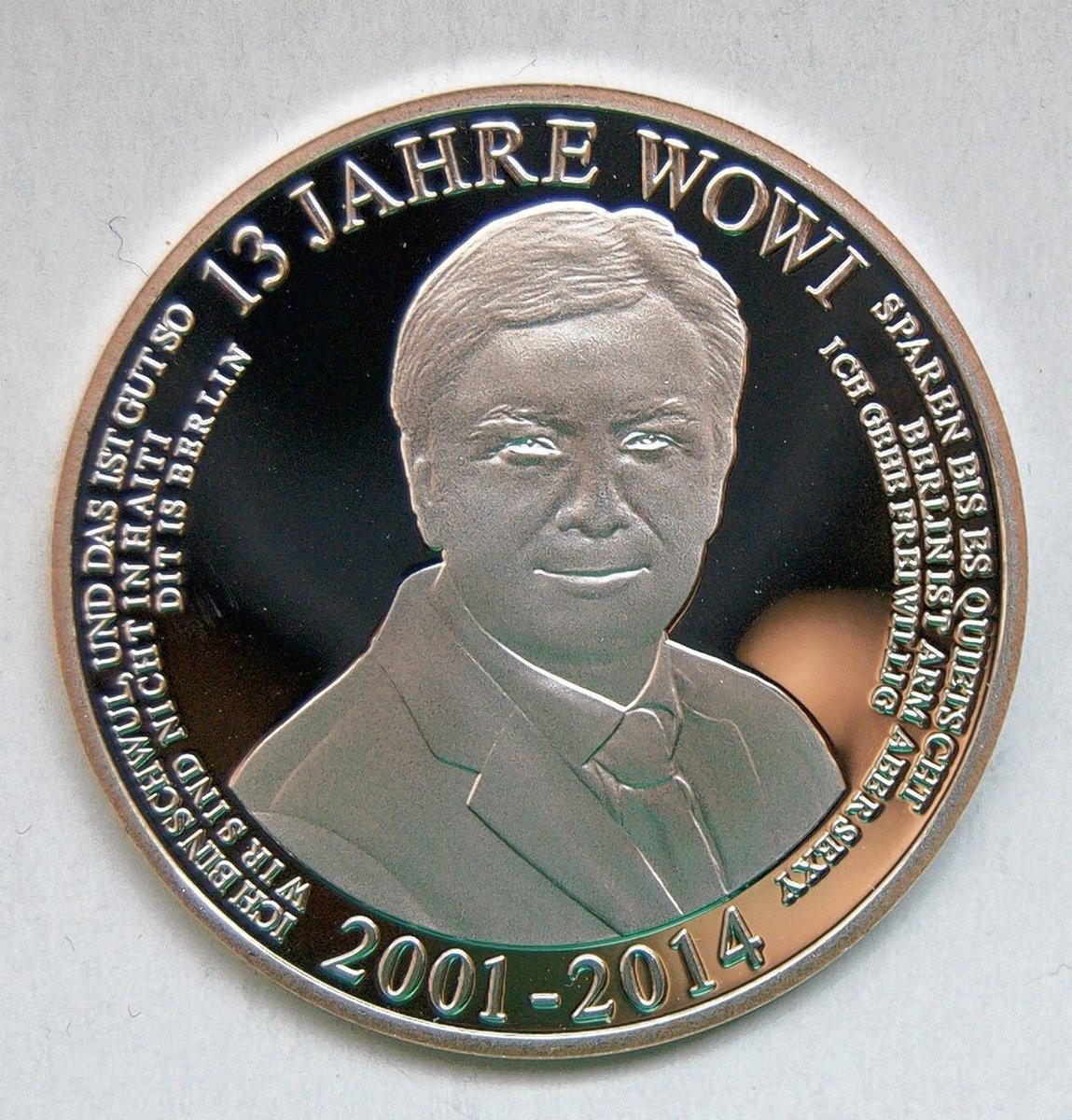 Staatliche Münze Berlin Prägte Medaille Zum Abschied Von Klaus