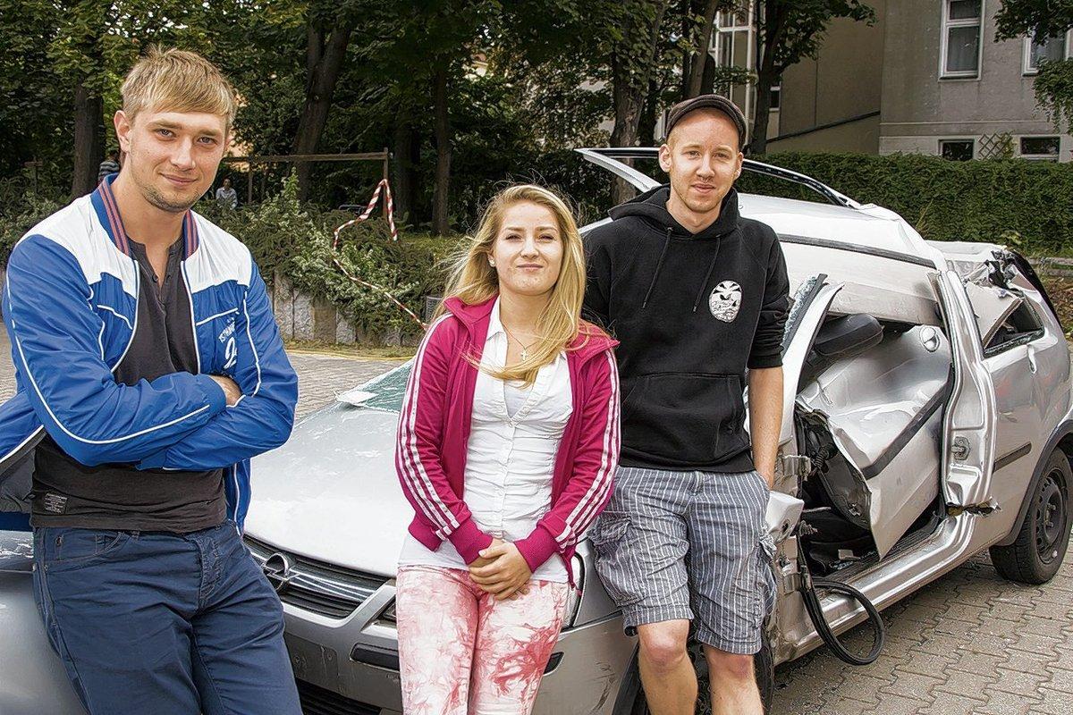 Für Pavel Dingen, Alexandra Reischel und Claas Hansen war dies ein beeindruckender Schultag.
