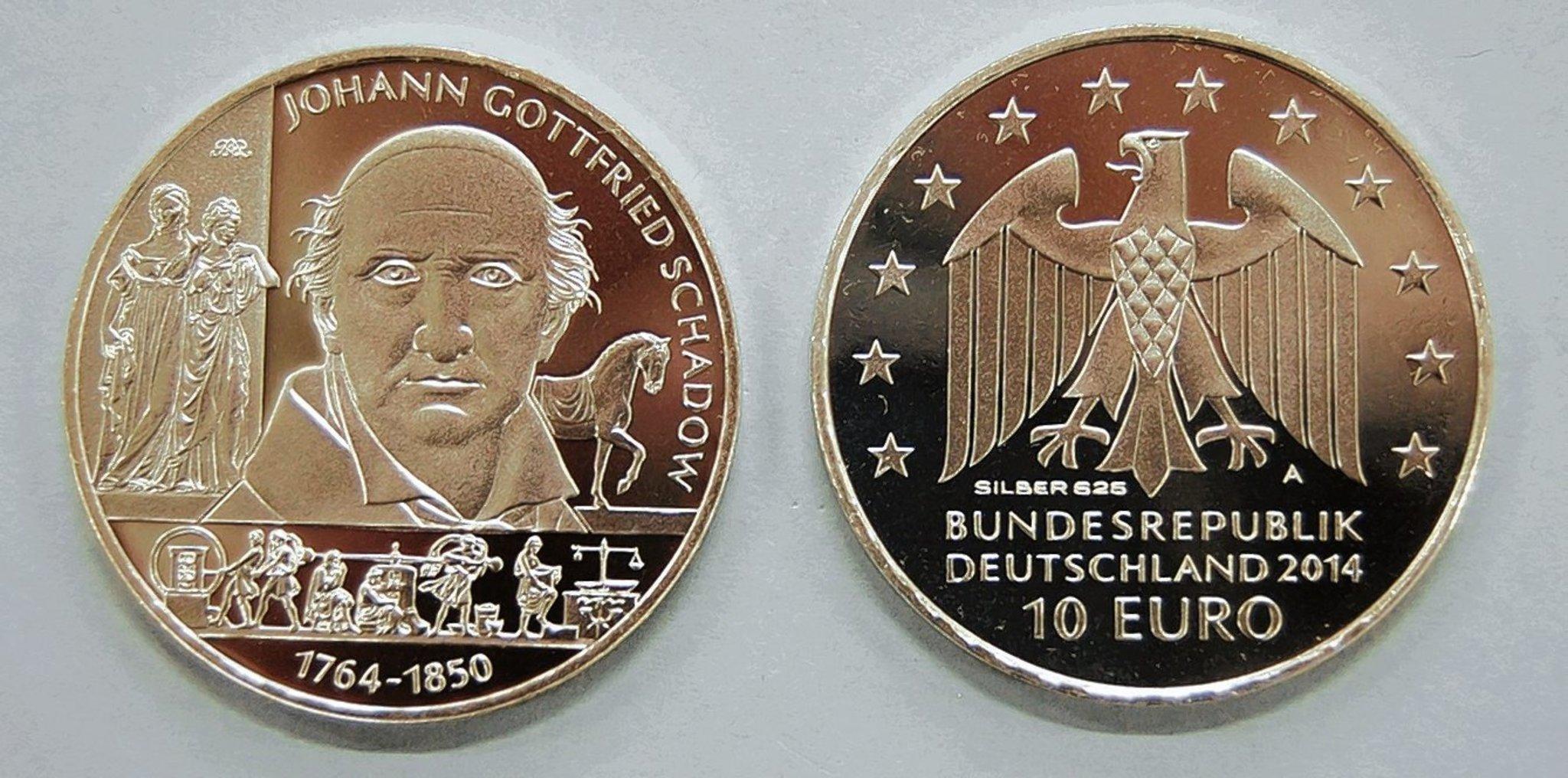 Neue Zehn Euro Münze Würdigt J G Schadow Reinickendorf
