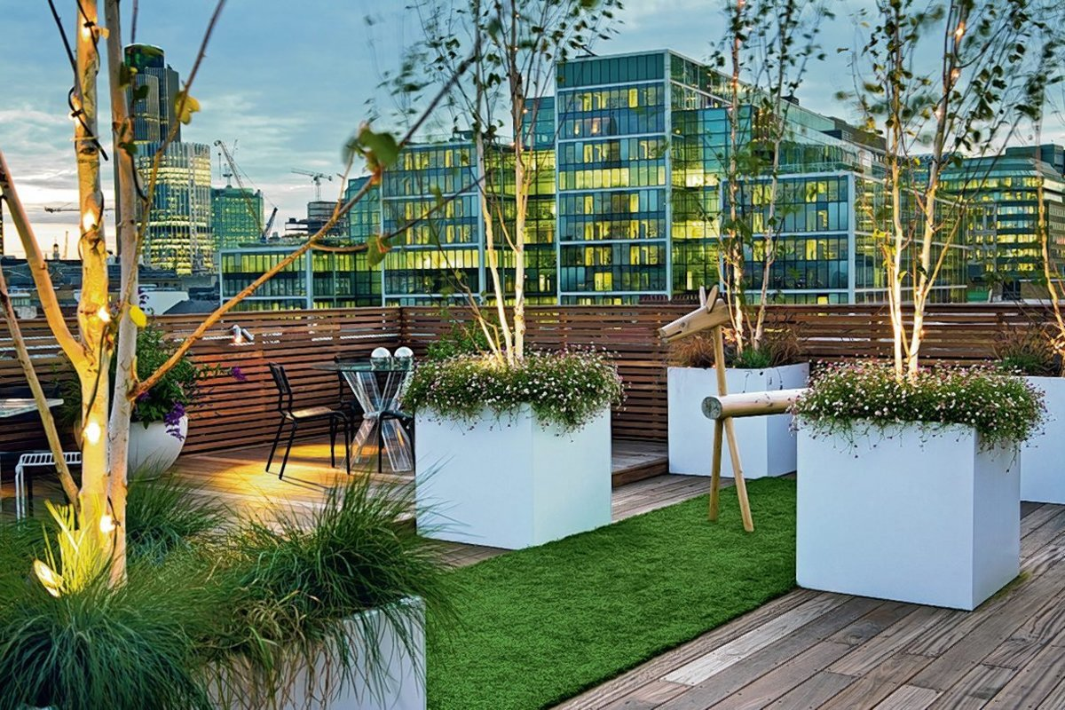 Eine Luxuriose Terrasse Auf Dem Eigenen Dach Anlegen Mitte