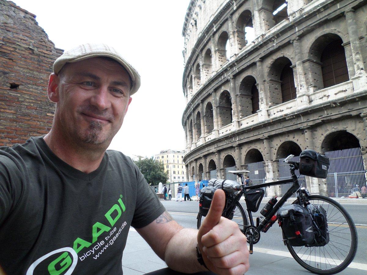 Auf seiner Tour durch Europa machte Sven Marx auch in Rom Station.