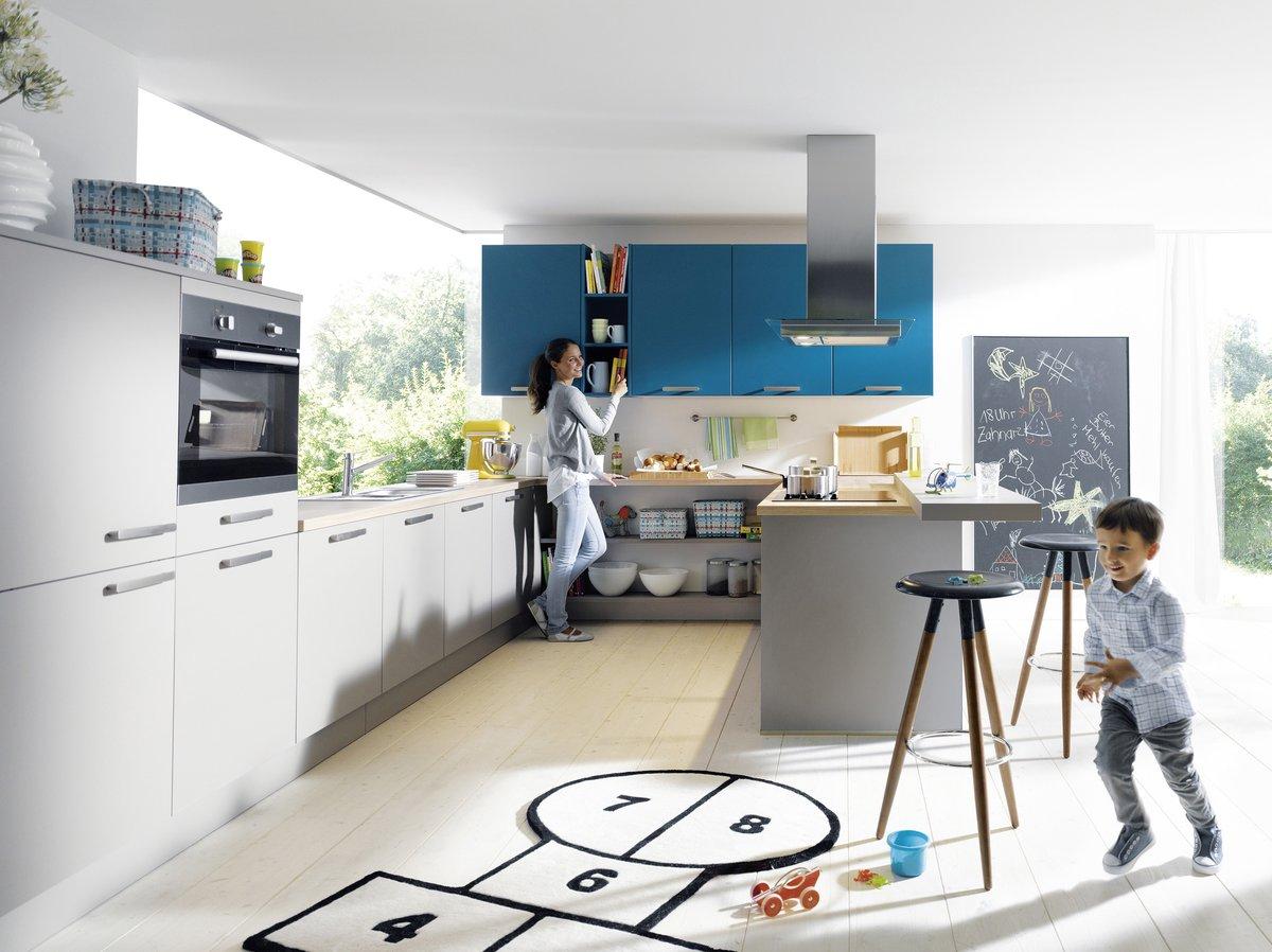 Großartig Blaue Farbe Küchenschränke Galerie - Ideen Für Die Küche ...