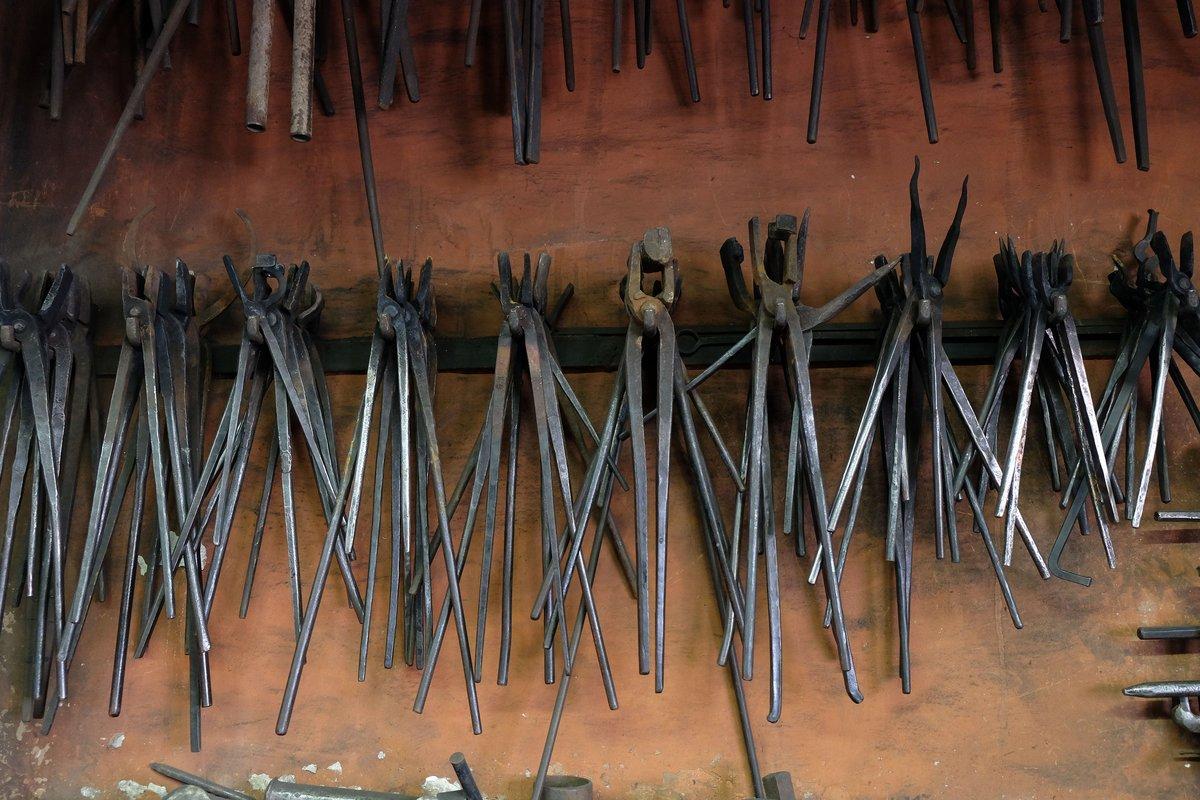 Detail in der Werkstatt des Kunstschmieds Achim Kühn.