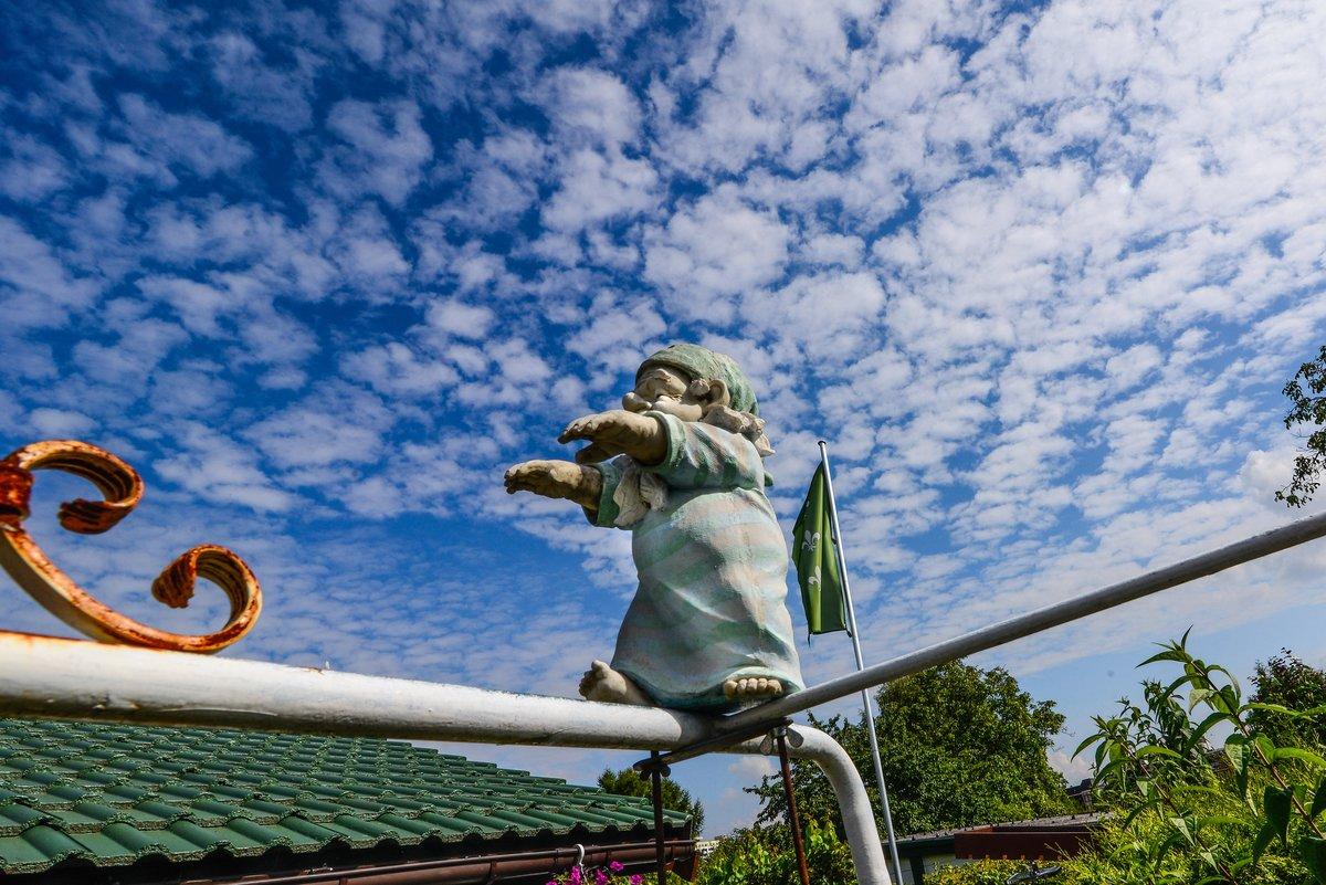 Akute Absturzgefahr: Der Kleingartenkolonie Oeynhausen geht steht möglicherweise die Räumung bevor.
