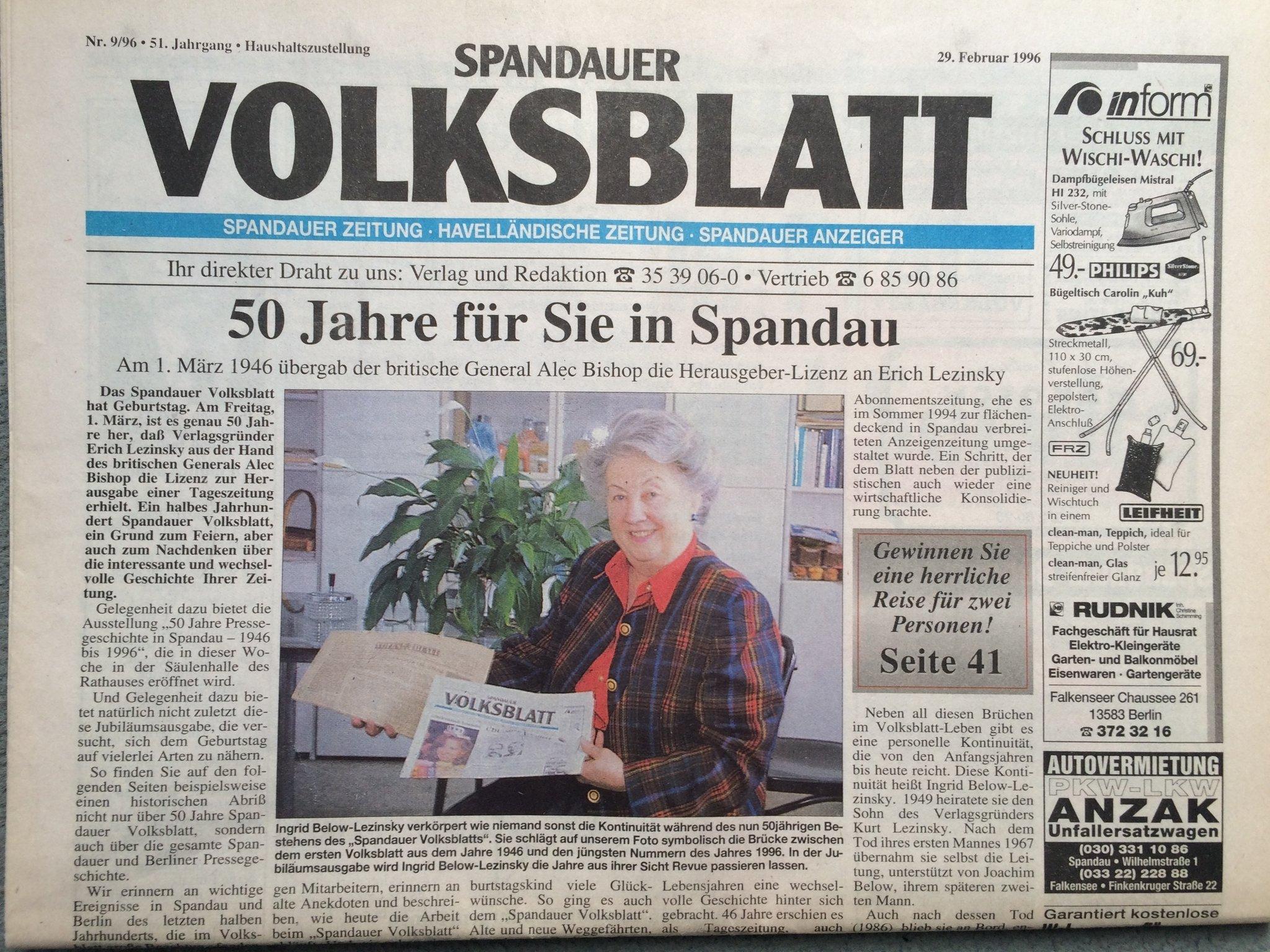 Spandauer volksblatt er sucht sie