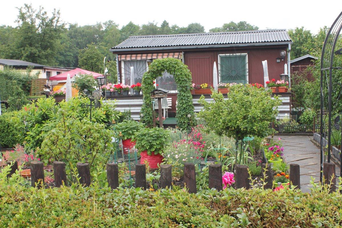 Diese Parzelle in der Kleingartenanlage Rübländer Graben, unweit des S-Bahnhofs Karow, kann zum Tag der offenen Gärten besichtigt werden.