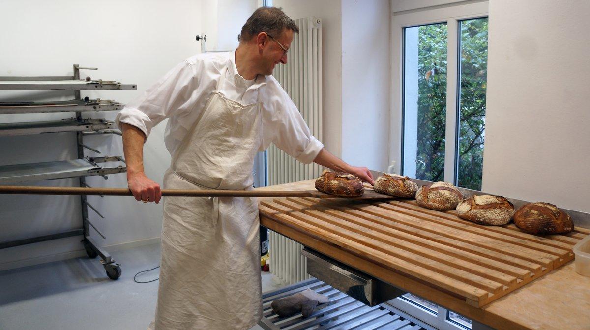 Florian Dombergers Brotkreationen gibt es vorerst in drei Sorten.