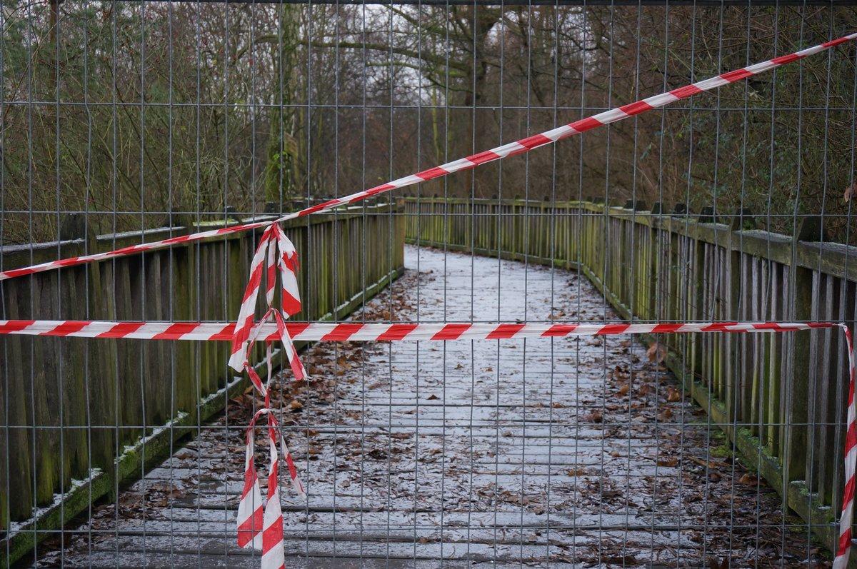 Durchgang Verboten Steg Am Rixdorfer Teich Bleibt Bis Zum Fruhjahr