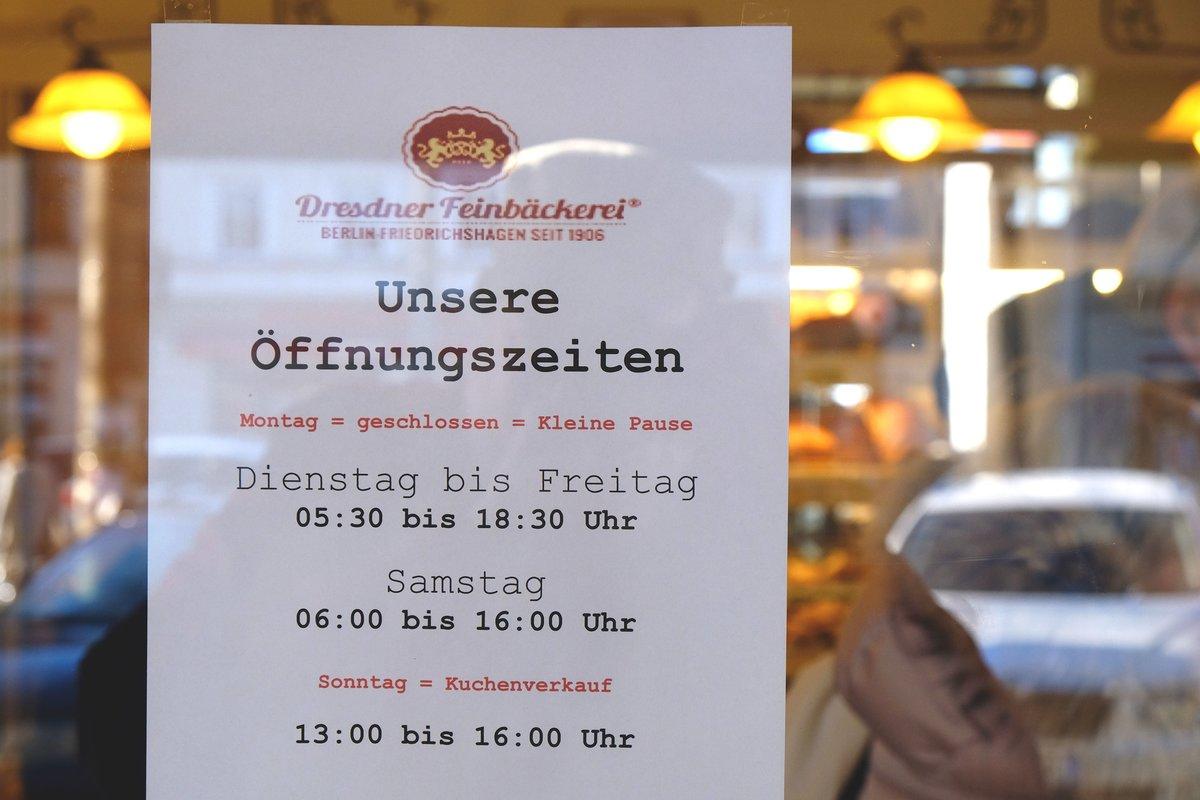 Information zu den neuen Öffnungszeiten.