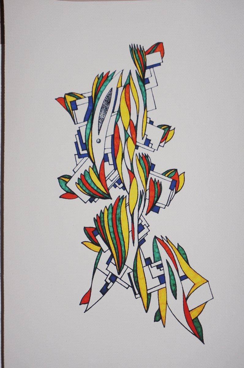 Eine der farbigen Illustrationen von Raphael Peters.