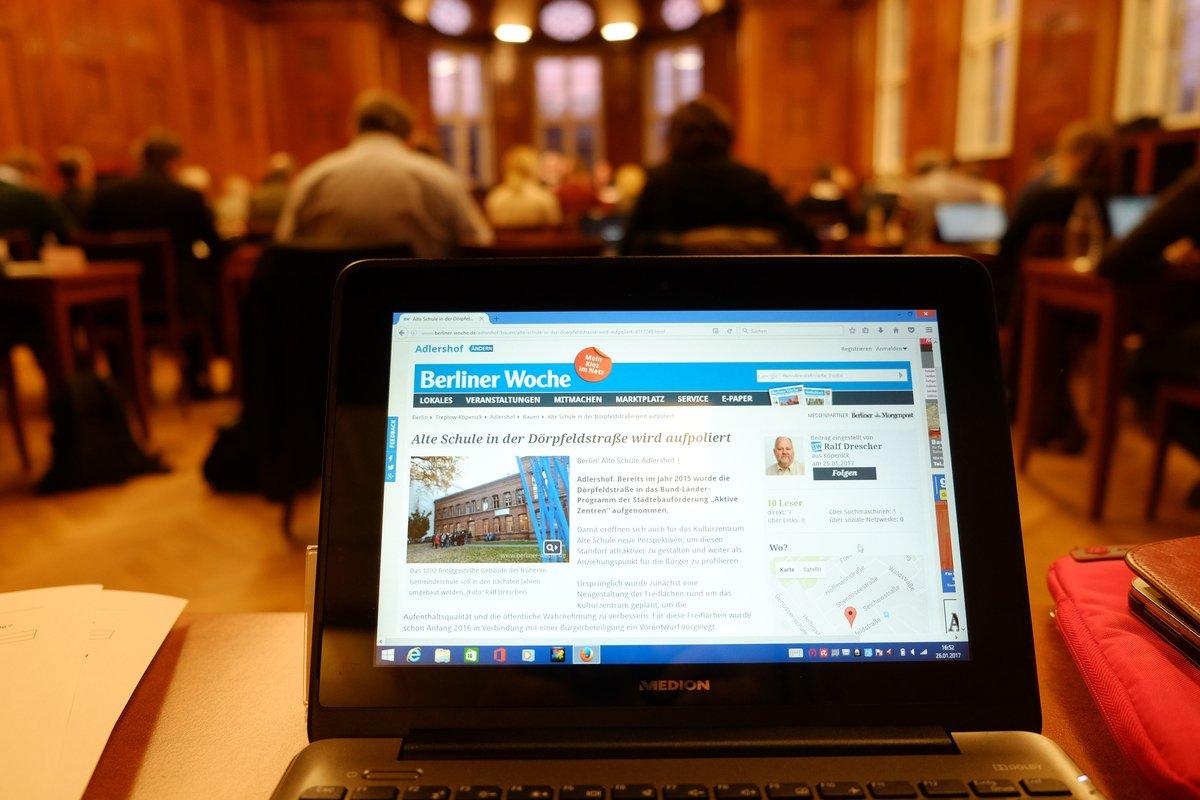 Blick von der Pressebank in den Sitzungssaal.
