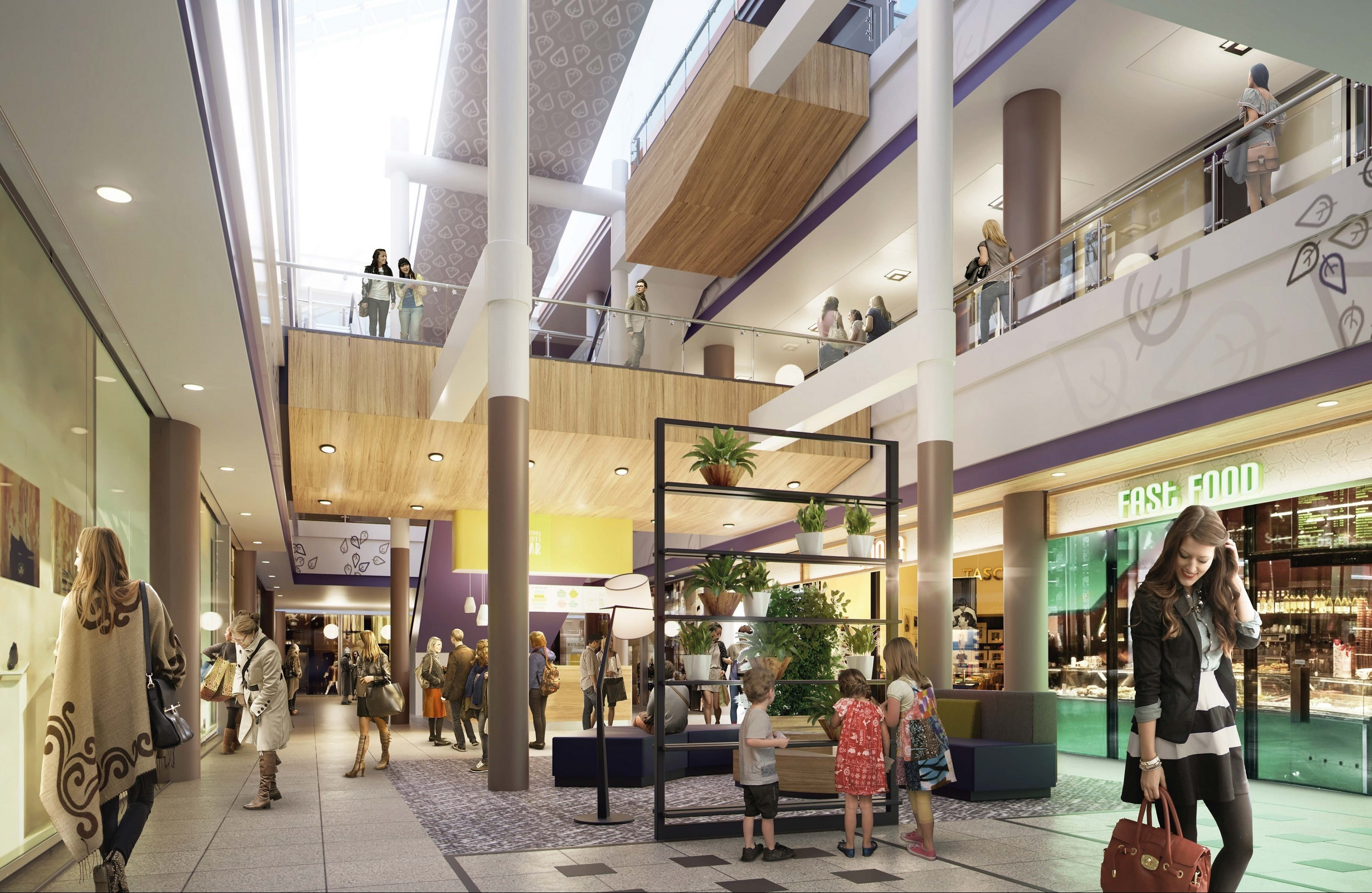 zuhause im shoppingpalast ece modernisiert gesundbrunnen center gesundbrunnen. Black Bedroom Furniture Sets. Home Design Ideas