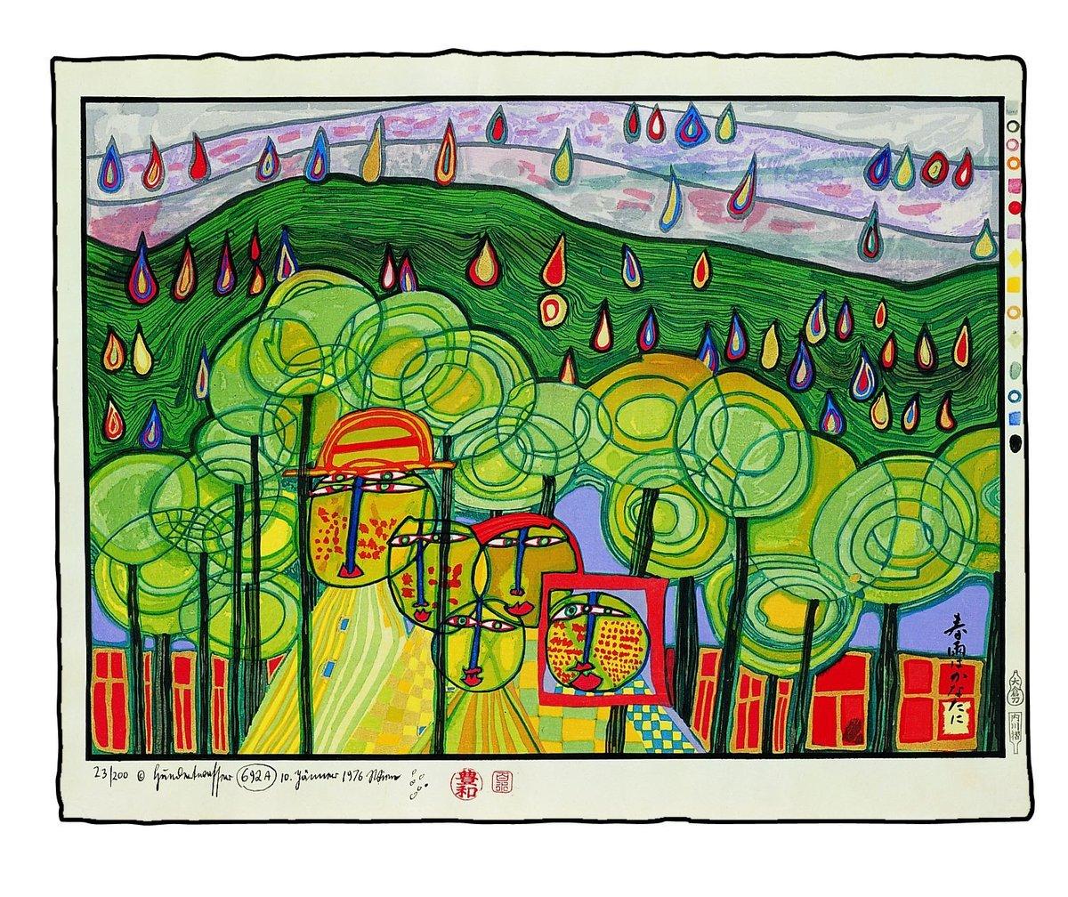 Grafische Werke Von Hundertwasser Im Schloss Britz Britz