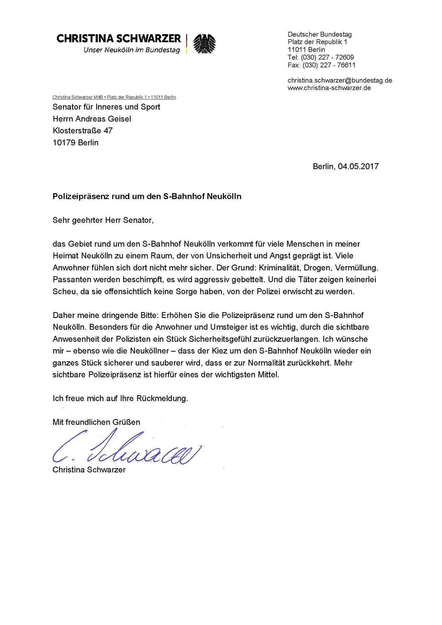 Polizei Brief