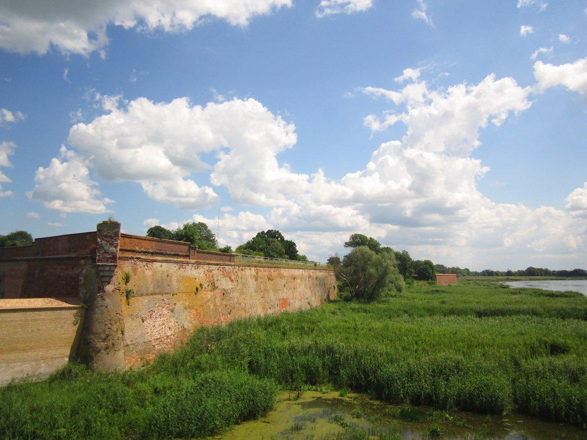 Die Reste der Festung Küstrin liegen am Zusammenfluss von Oder und Warthe.