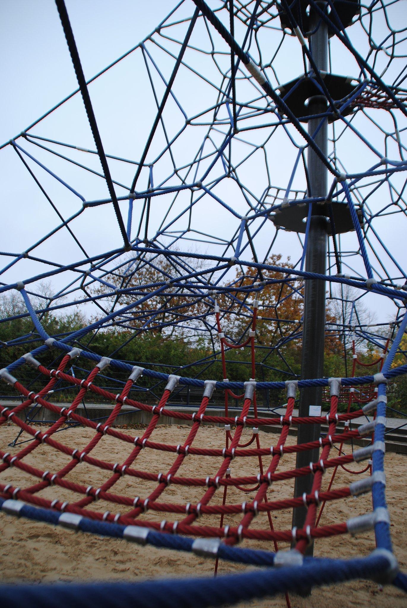 Auf die Seile, fertig, los: Kletterspinne am Magistratsweg ist ...