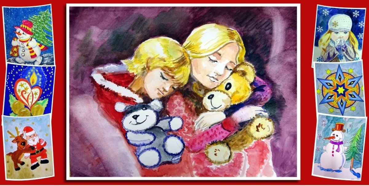 Weihnachtsbilder Und Videos.Kinder Malen Den Winter Neue Ausstellung Im Foyer Des Helios