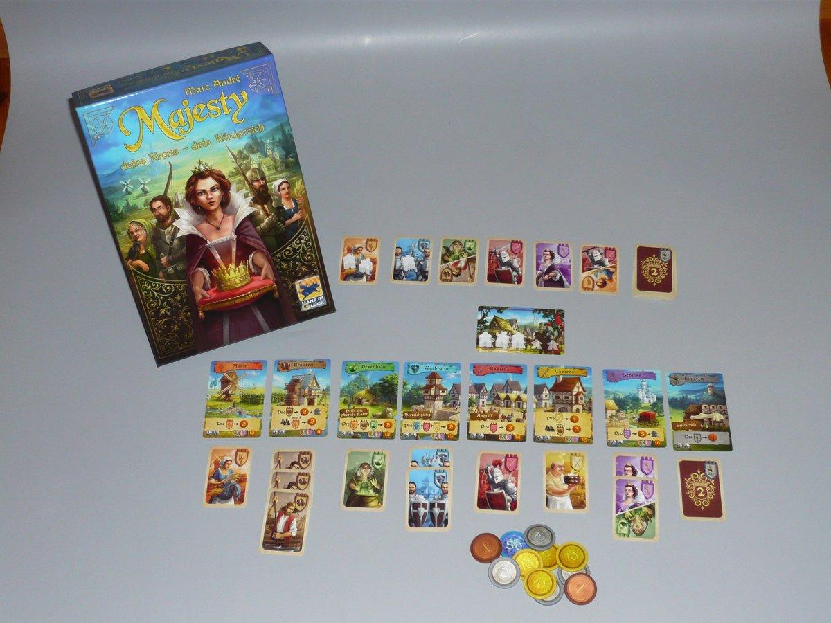 """""""Majesty: Deine Krone - Dein Königreich"""" ist ein unterhaltsames Spiel aus dem Verlag Hans im Glück."""