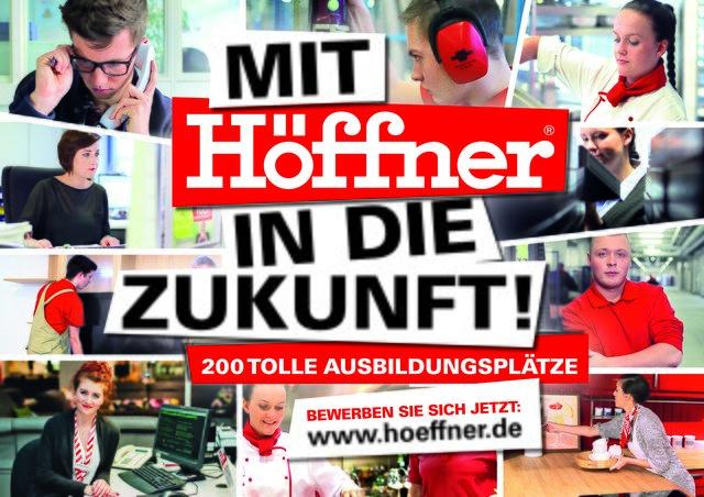 Möbel Höffner bietet wieder 200 Ausbildungsplätze in 2018 an ...