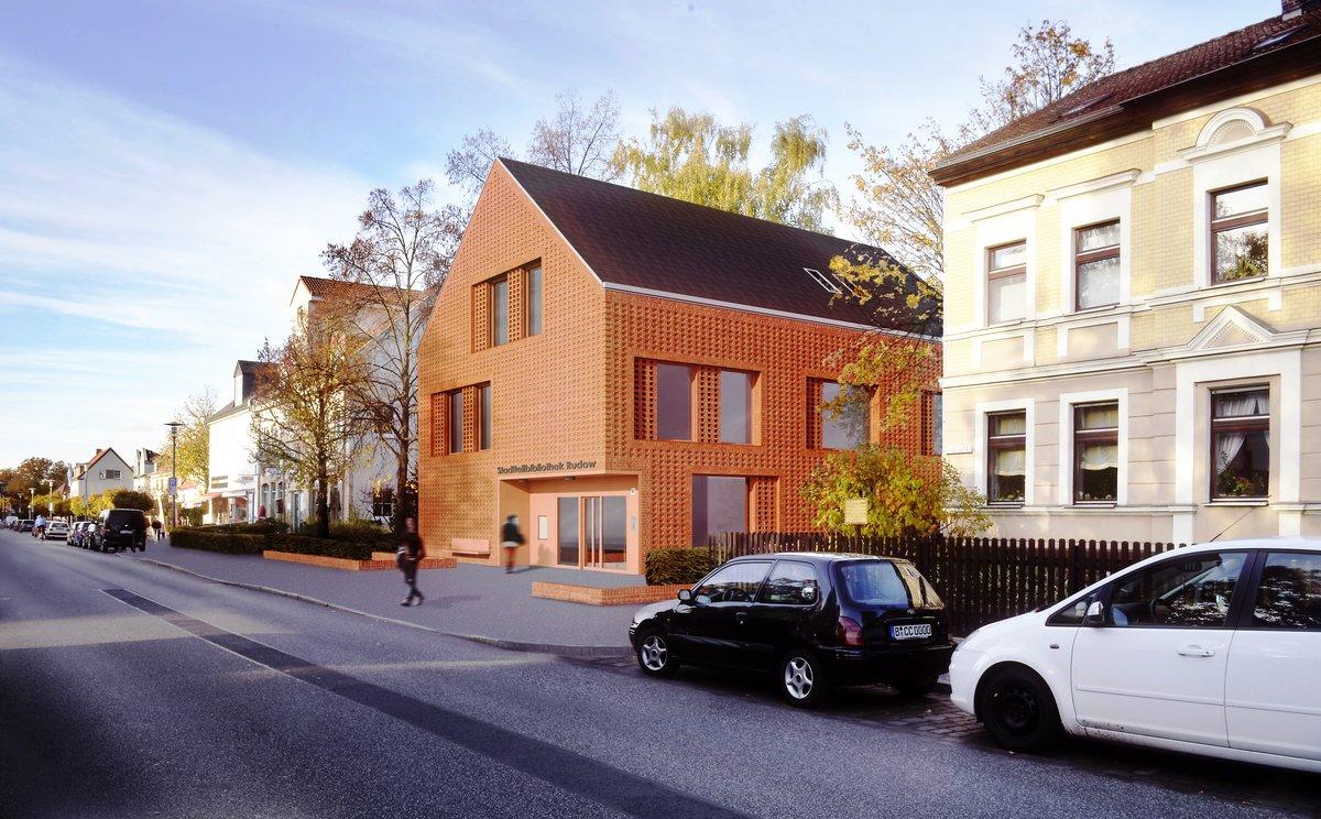 In rotem Klinker wird sich das Haus präsentieren. Foto: Büro Wieland Vajen