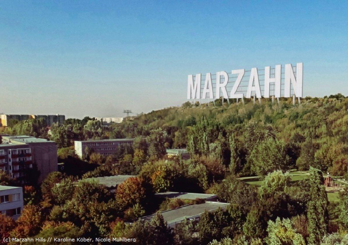 """Die Ahrensfelder Berge werden nicht mit dem Schriftzug """"Marzahn"""" in riesigen Großbuchstaben versehen. Die Initiatorinnen haben die Idee aufgegeben."""