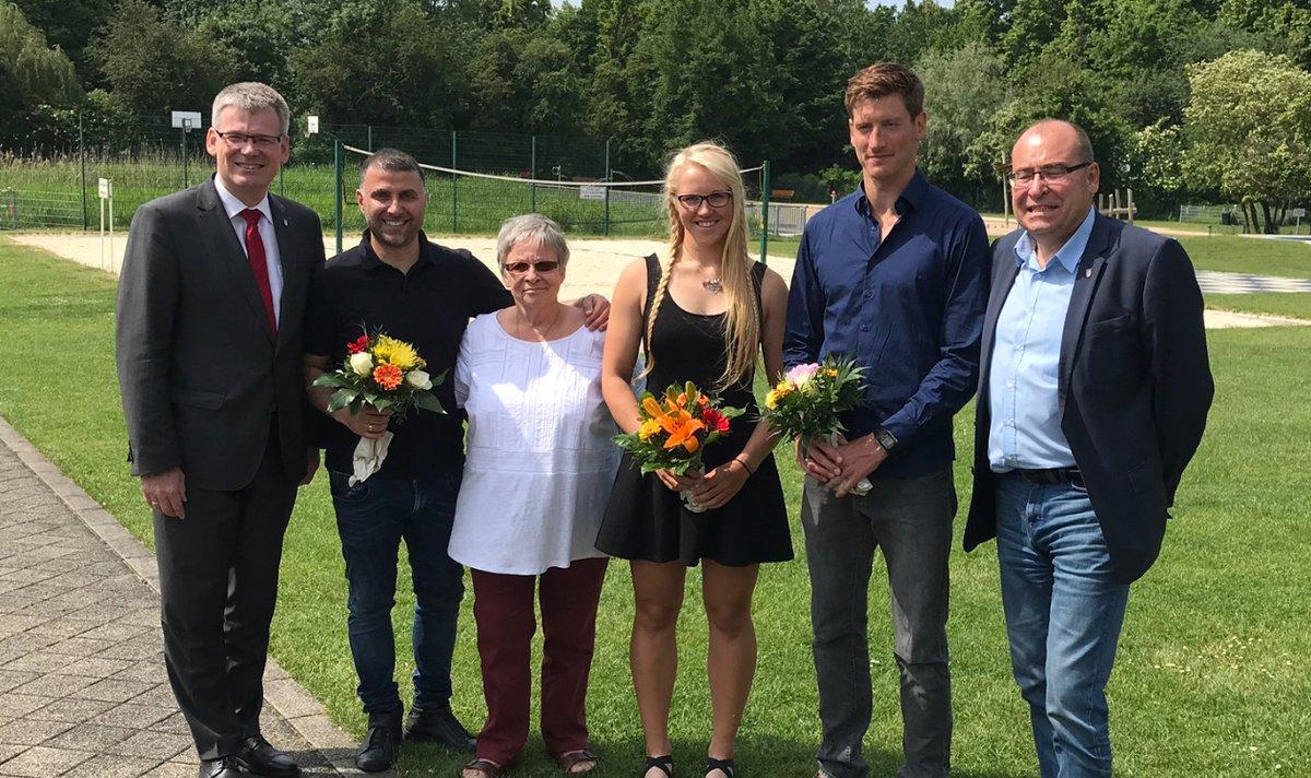 Drei Neue auf dem Walk of Fame: Steine für Sportler im Südpark - Spandau