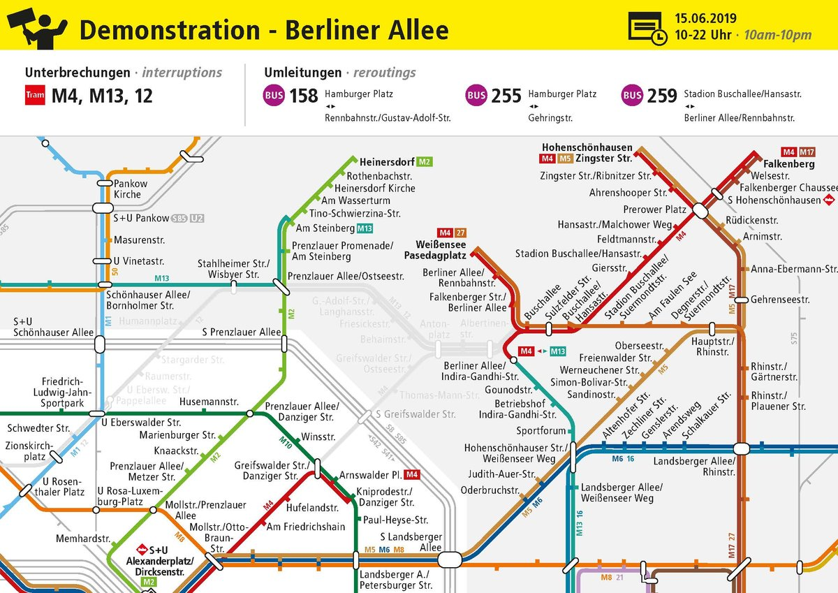 Demo Für Verkehrswende In Weißensee Stoppt Auch Den öpnv Berliner