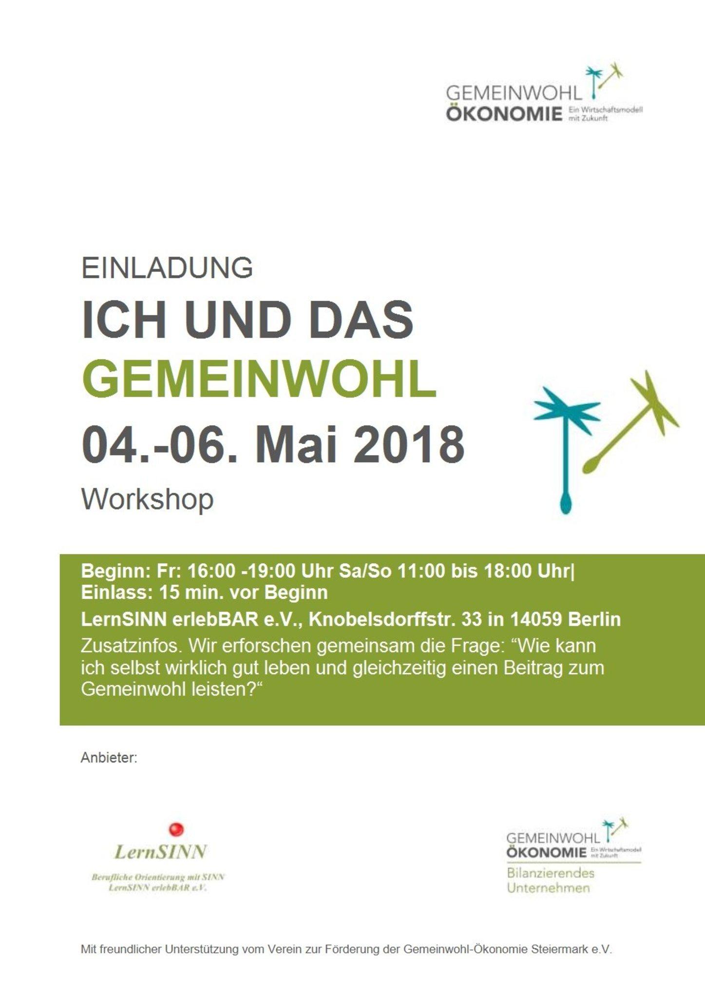 Workshop Ich und das Gemeinwohl