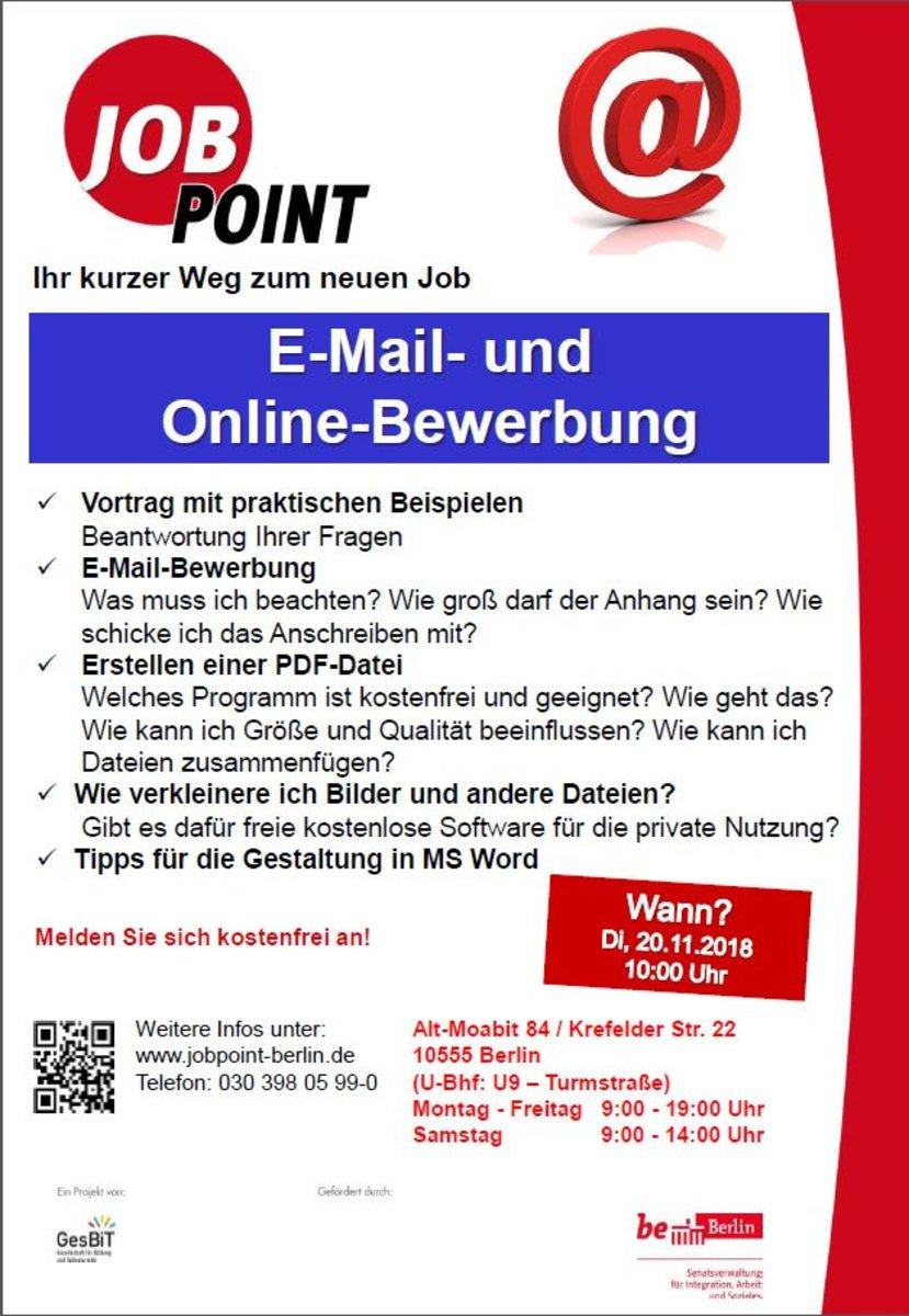 Infoveranstaltung E Mail Und Online Bewerbung